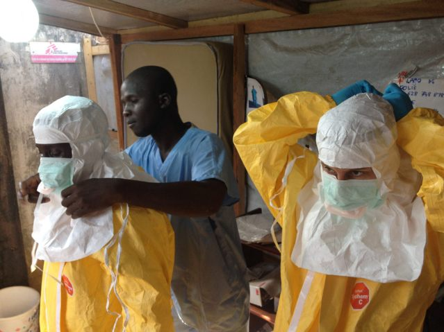 The European Commission's Humanitarian Aid and Civil Protection department (ECHO) supports MSF, WHO and IFRC in their efforts to contain the epidemic. (Photo Credit: ©EC/ECHO)