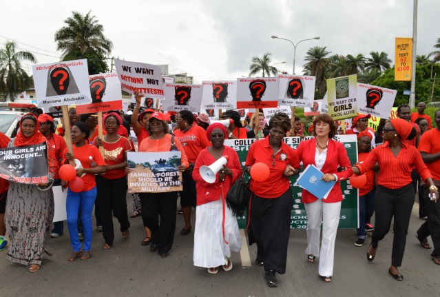 Rally in Lagos for rescue of abducted Nigerian girls (Photo Credit: UN Photo)