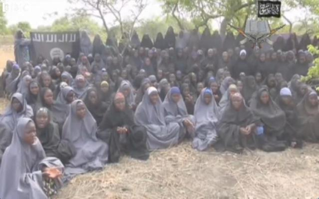 Video capture showing about 130 girls kidnapped by Boko Haram