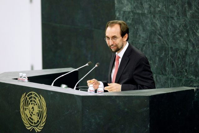 The General Assembly approved the appointment of Prince Zeid Ra'ad Zeid Al-Hussein of Jordan as the new United Nations High Commissioner for Human Rights, for a term of office of four years, beginning on 1 September 2014. (Photo Credit: UN Photo/Paulo Filgueiras)